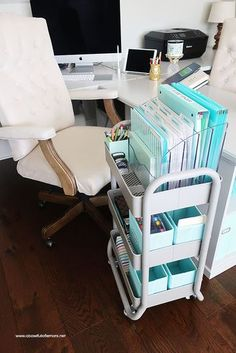 Office Desk Organization 101 – Quick Tips For Avoiding Office Desk Clutter Lidi Lidi 2019 Home Organization Challenge Week The Office Home Office Space, Home Office Design, Home Office Decor, The Office, Bedroom Office, Small Office Decor, Stylish Office, Office Setup, Desk Office