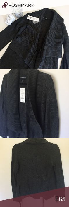 French Connection Autumn Walk Grey Cardigan NWT Super cute and cozy French Connection grey 'autumn walk' cardi, NWT French Connection Sweaters Cardigans