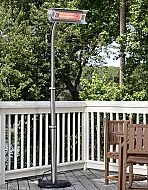 The patented heavy-duty Stainless Steel Offset Infrared Patio Heater introduces a new revolution in outdoor heating. Operating at heating efficiency, this infrared patio heater runs on regular household electric current and is substantially . Fire Pit Heater, Propane Patio Heater, Outdoor Heaters, Fire Pits, Outdoor Fire, Indoor Outdoor, Outdoor Living, Outdoor Decor, Outdoor Ideas