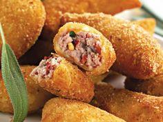 Receita Aperitivo : Bolinho frito de salsicha de Vanderleiavieira