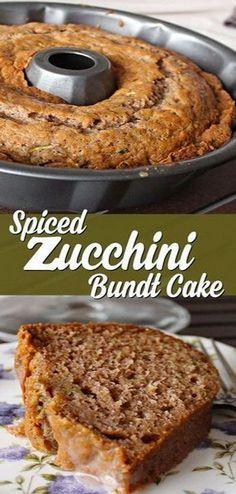 Spiced Zucchini Bundt Cake Recipe | Delicious Recipes #cake #cakerecipes #zucchini