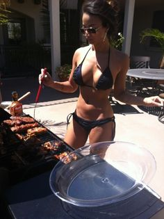 Excited too babe bikini chick hot nice party pool sweet