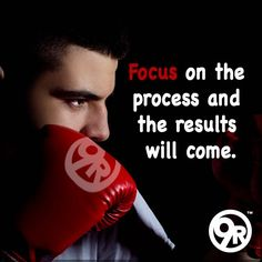 Very often, when people are working out, they focus on the wrong things.  Many people strive for quick results; and when they don't see the results they are looking for, they give up.   The key is to focus on the PROCESS.    The process is every step it takes to reach your goal. The process is the DETAILS.    Celebrate each small step and take time to enjoy every minute -- EVERY detail of hard work you put into your goal.    We're rooting for you!  #9Round #FocusOnTheProcess
