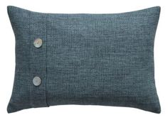 Add some comort to your home with this Colours Fontelo Blue Woven Button Cushion.