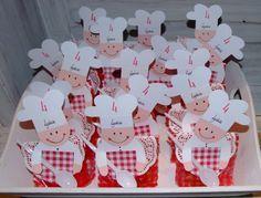 BAKKERTJES: gemaakt op een zakje met daarin een versierde cupcake. Gemaakt als traktatie voor de 4e verjaardag van Lydia.