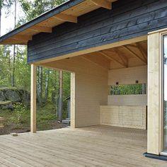Construction Design, Pergola, Garage Doors, Outdoor Structures, Cabin, Building, Outdoor Decor, Home Decor, House Ideas
