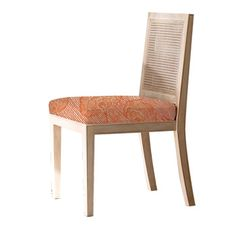 Redford House | Caned Side Chair in Orange Floral