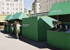 market stall - great idea!