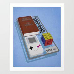 Geek Kit Art Print by Bakus - $17.68