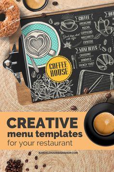 All food menus Archives - Barcelona Design Shop Food Menu Design, Food Truck Design, Restaurant Menu Design, Restaurant Recipes, Food Menu Template, Menu Templates, Steak Menu, Japanese Menu, Mexican Menu