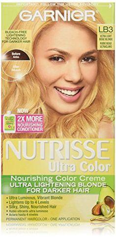 Garnier Nutrisse Ultra Color Nourishing Color Creme, LB3 Ultra Light Beige Blonde *** Review more details @
