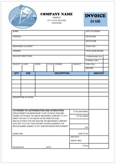 Boost Your Carpet Installation And Flooring Business With Our Free Printable Invoice Templates