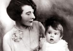 Ella Van Heemstra photographed with her daughter Audrey Hepburn, 1929.  At the time this photograph was taken, baby Audrey wasn't even one years old.