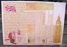 London Leaves handmade card FWB bon voyage by RogueKissedCraft Recycled Materials, Etsy Store, Recycling, Around The Worlds, Leaves, London, Awesome, Handmade Gifts, Crafts