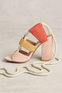 Slide View: 3: Bettye Calypso Lace-Up Heels