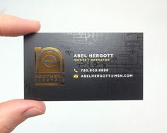 Silk laminated business cards with gold foil stamp and spot uv gloss silk laminated business cards with gold foil stamping on both sides for abel hergott in edmonton reheart Image collections