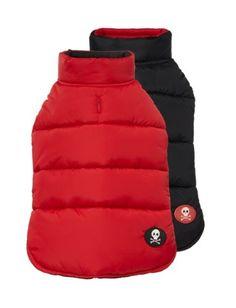 "Fab Dog Reversible Puffer Vest Dog Jacket, Skull Red/Black, 16"" Length Fab Dog,http://www.amazon.com/dp/B009HYMJT0/ref=cm_sw_r_pi_dp_d0ERsb0HABQ2PHCZ"
