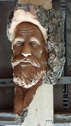 Free Wood Working and Shed Plans Wood Carving Faces, Tree Carving, Wood Carving Art, Wood Carvings, Wood Sculpture, Sculptures, Wood Bark, Whittling Wood, Fantastic Art