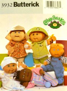Cabbage Patch Kids Baby Doll Clothes Pattern by VintageNeedleFinds,