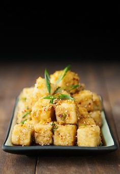 Sesame Tofu + Aussie Salute red. Loving the tofu stack - great food pics and a lovely meal.