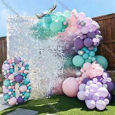 2 Birthday, Mermaid Theme Birthday, Little Mermaid Birthday, Birthday Party Themes, The Little Mermaid, Mermaid Balloons, Pastel Balloons, Mermaid Party Decorations, Bachelorette Party Decorations