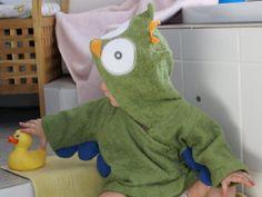 Bademantel Baby Eule in Grün von Schnuffelinis auf Etsy,