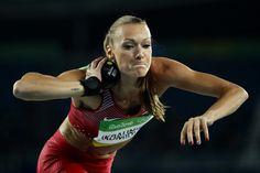 Laura Ikauniece-Admidina of Latvia during the Women's Heptathlon Shot Put… Heptathlon, Shot Put, Rio Olympics 2016, Good Heart, Female Poses, Olympic Games, Board, Health, Sports