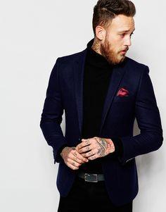 ASOS+Slim+Blazer+In+100%+Wool