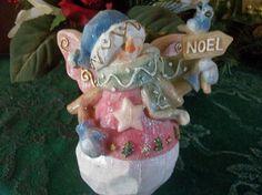 Snowman Angel and Bluebird Christmas Decoration Vintage Dickson Giftware…