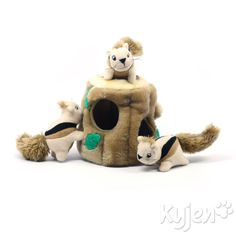 Kyjen Hide-A-Squirrel Squeak Toy Dog Toys Large, Brown Keeps pets occupied and eliminates boredom Provides hide-and-seek enrichment Increases problem-solving skills and doggy i. The Hide-A-Squirrel dog toy offers … Dog Puzzles, Puzzle Toys, Best Dog Toys, Interactive Dog Toys, Dog Boutique, Dog Activities, New Puppy, Dog Supplies, Dog Owners