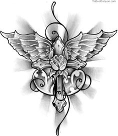 Winged Cross Tattoo Design By Thirteen7s On Deviantart picture 10987