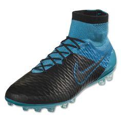 timeless design 71c0b 3b114 Cheap Nike Magista Obra Leather AG-R Men s Soccer Cleats Black Blue