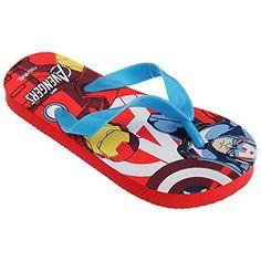 46c2e04d4993 awesome Marvel Avengers Childrens Boys Superhero Design Toe Post Flip Flops  Hiking Sandals