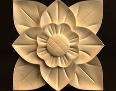 Carving architectural 3D model Carving, 3d, Architecture, Floral, Flowers, Model, Art On Wood, Arquitetura