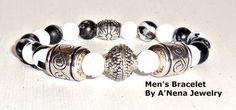 Mens  Bracelet  I am Successful Rare Genuine Zebra by ANenaJewelry, $42.50