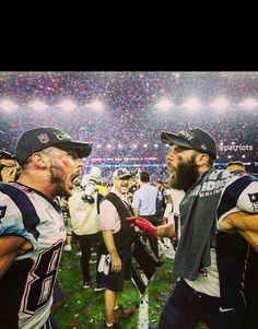 EdelmanDola: Julian Edelman and Danny Amendola at Super Bowl LI