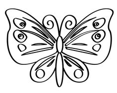 Kawaii Butterfly Coloring Pages from Printable Butterfly Coloring Pages. Butterfly is one of the most admired animals for its beauty. Various motifs of the wings make the butterfly highly admired. Some people even collect i. Butterfly Line Art, Butterfly Outline, Butterfly Coloring Page, Butterfly Drawing, Butterfly Template, Butterfly Pictures, Flower Coloring Pages, Mandala Coloring Pages, Animal Coloring Pages
