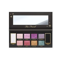 Too Faced New Glitter Bomb Eyeshadow lets you step into your very own glitter lab. Experience an explosion of color with 8 sparkly prismatic Glitter Bomb shades. #toofaced