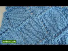 Cómo tejer punto ROMBOS CALADOS. Tejido con dos agujas # 402 - YouTube