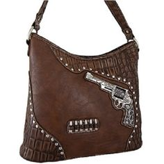 MONTANA WEST BROWN PISTOL CONCEALED WEAPON TOTE PURSE HANDBAG -WOW!