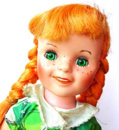 Pippi Longstocking Doll 1959 Vintage Orange by GoodlookinVintage,  This was my favorite doll of all times as a child.  I loved her green eyes and red hair.