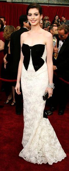 Anne Hathaway ♥ -- www.whitesrose.etsy.com Go here for your Dream Wedding Dress & Fashion Gown!