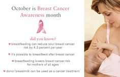 October is Breast Cancer Awareness Month. DYK that breastfeeding....  http://babies411.com/table/information-station/breastfeeding/  #breastfeeding #bf #nursing