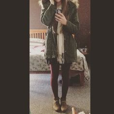 Winter outfit inspiration. Jacket from ASOS, dress from Glassons, boots from Number One Shoes, scarf from mum's wardrobe, tights from Farmers, and phone case off eBay
