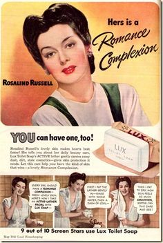 Rosalind Russel for lux 1942