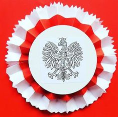 Independent Day, Origami, Polish Folk Art, Diy And Crafts, Arts And Crafts, Autumn Crafts, Decorative Plates, Techno, Decoupage