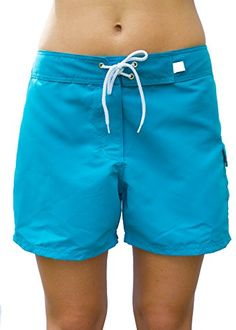 Kechika Women's Solid Poly Boardshorts Full Cut Boardshort With Normal Waistline -- You can find more details by visiting the image link.