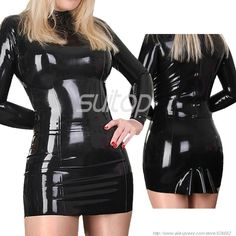 >> Click to Buy << Latex black dress black color sexy white cosplay ruuber #Affiliate