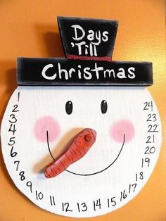 MADE TO ORDER! SHIPS PRIORITY! ALL HANDMADEI will do my best to create and ship ASAP! After receiving payment I will ship within 3 days, most time sooner. Enjoy this Countdown to Christmas Wall Hanging. I hand cut all pieces and painted by hand. The carrot nose is three dimensional and you move it to each number. On December 1st, start at 24 and count down! Your kids will love to see this put out at Christmas each year. All handmade and colors may vary slightly...overall design is same!Fro