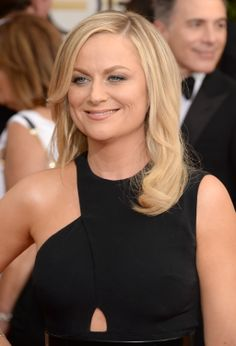 Amy Poehler on the Golden Globes red carpet